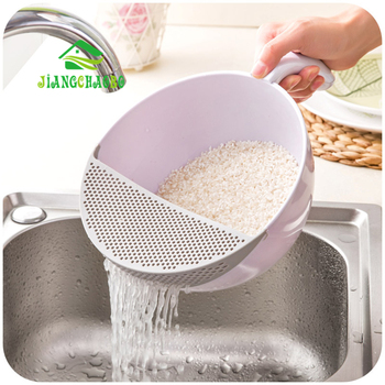 JiangChaoBo Kitchen Panning Basket Of Plastic And Plastic Water Basket Fruit Basket Wash Rice Sieve