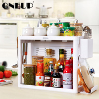 ONEUP 2 Layer Oversized Load bearing Bracket Storage PP Material Large Capacity Kitchen Rack Bathroom Living Room Storage Rack
