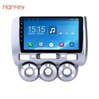 Harfey 2 DIN Android 6.0 Car 9 inch Head Unit Radio Player GPS Navigation for 2002 2003 2004 2008 HONDA Jazz Manual AC LHD