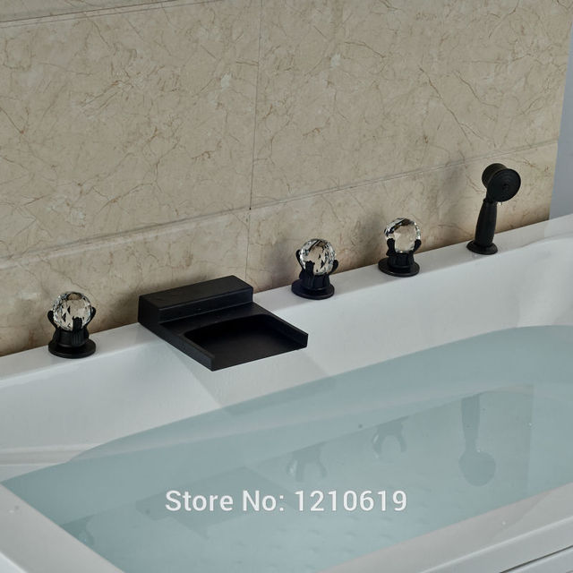 Newly Oil Rubbed Bronze Bathroom Tub Faucet W/ Hand Sprayer Waterfall Bathtub  Faucet Mixer Tap
