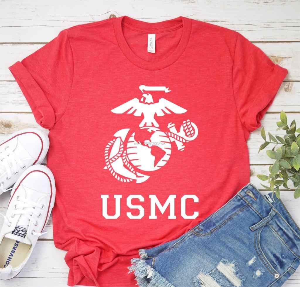 USMC T-Shirt - Marine Kemeja Militer Kemeja Kehidupan Laut-USMC-Semper Fi Militer-Marine logo-Hadiah untuk Marine