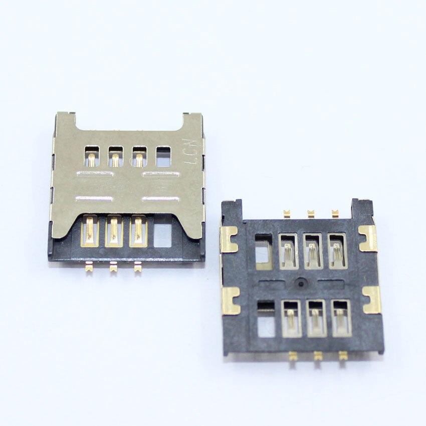 20pcs/lot Sim Card socket Slot Holder Tray Replacement Parts for Samsung GT E1200M E1200 I519 I939D I939i free shipping