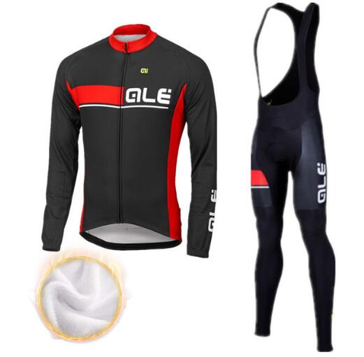2017 ALE Winter Thermal Fleece Cycling Clothing Pro Bike Clothes Wear MTB Bicycle Jersey Set Maillot Ropa Ciclismo Invierno