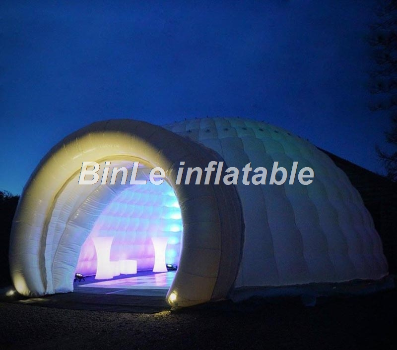 10m giant outdoor inflatable dome tent advertising snow igloo commercial event tent exhibition LED wedding tent for sale factory direct sale 6x6x3 5 m inflatable dome igloo tent for outdoor event high quality blow up all white yurt tent toy tent