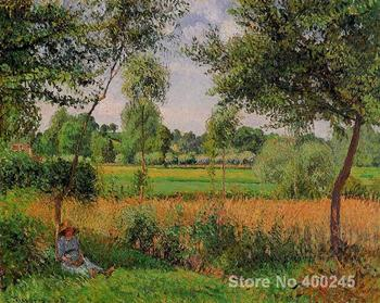 Oil Paintings by Camille Pissarro Morning, Sun Effect, Eragny Hand painted Art Reproduction High quality
