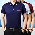 2016 Fashion men's polo shirt  Short sleeve polo homme Casual&Business Brand camisa polo Breathable Solid Brand Shirts