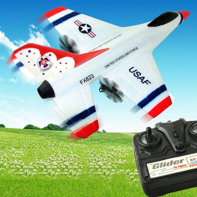 FX-823 2.4G 2CH F16 Thunderbirds EPP Remote Control RC Glider Airplane