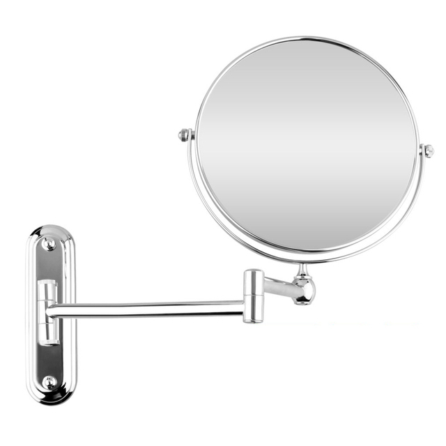 YOST srebrny rozszerzenie 8 cali kosmetyczne ścienny makijaż lustro do golenia lustro łazienkowe 7x powiększenie