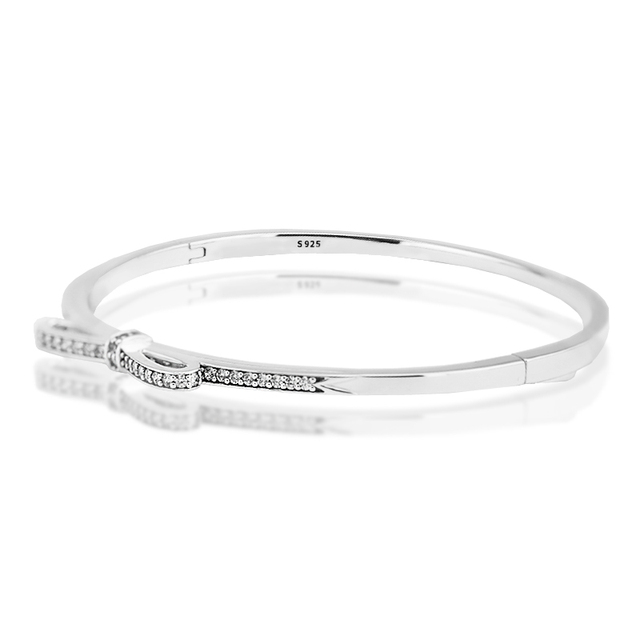 Serve Jóias Europeia CKK 925 Pulseiras De Prata Esterlina para Mulheres DIY Fazendo Arco Espumante Pulseira de Prata Fine Jewelry FLB033