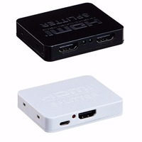 Digital HD 1x2 Port HDMI Splitter Amplifier Repeater 1080p Female Switch Hub For Blue Ray For