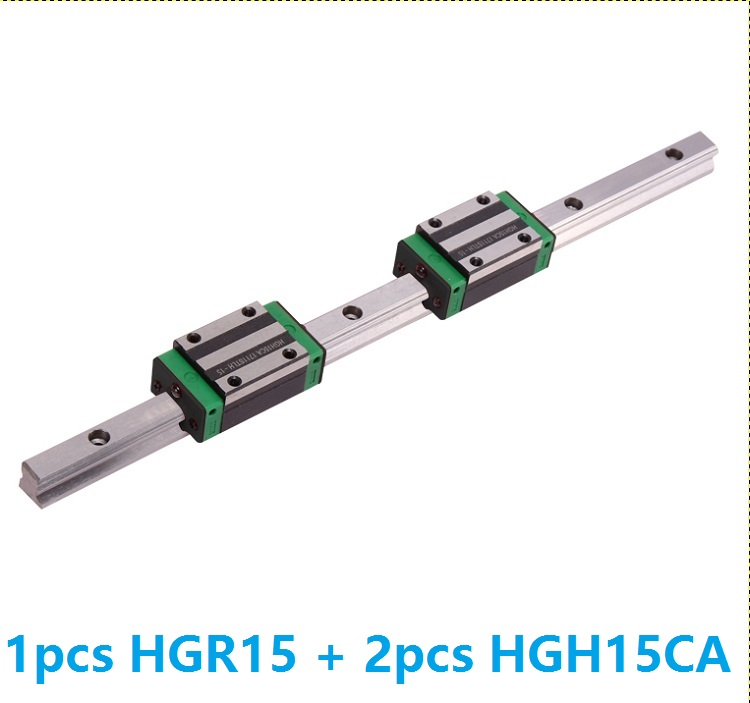 1 шт. линейной направляющей HGR15 1100 мм/1200 мм/1300 мм/1400 мм/1500 мм + 2 шт. HGH15CA линейный узкая блоки для ЧПУ сделано в Китае