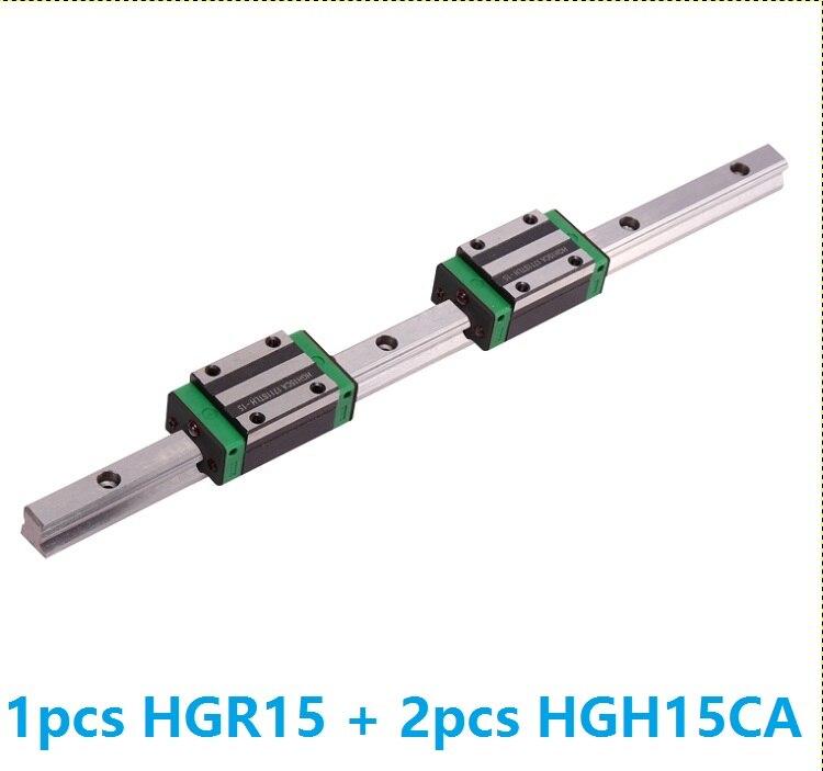 1 pcs linéaire rail de guidage HGR15 1100mm/1200mm/1300mm/1400mm/1500mm + 2 pcs HGH15CA linéaire étroite blocs pour CNC Made in China