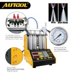 Autool ct150 injector carro testador de limpeza ultrassônica injectores combustível automático bico mais limpo para veículo 4 cilindro ferramenta diagnóstico