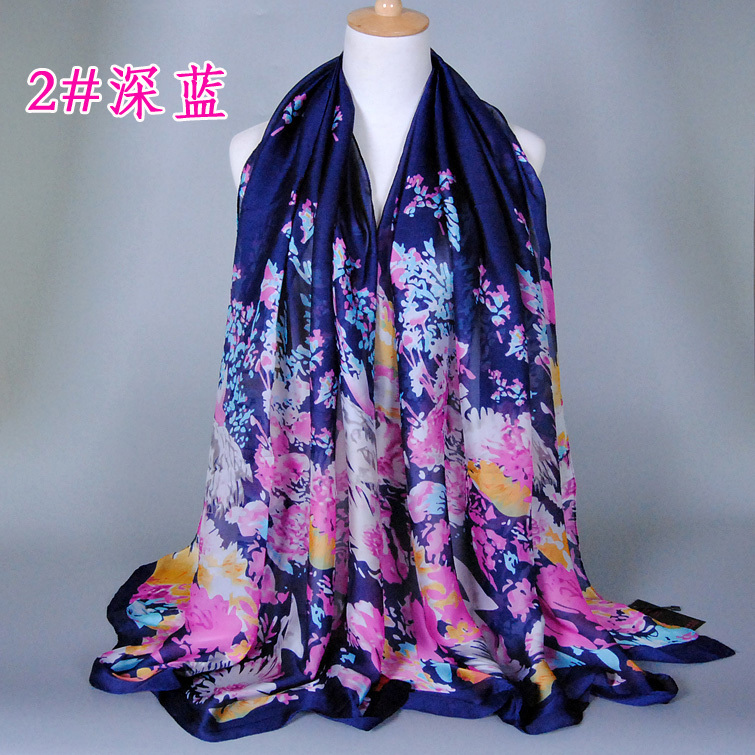 cb024bc2fcb7 NEW DESIGN printe flower Satin shawls pashmina hijab beach summer hijab  muslim head wrap big size scarves scarf 10pcs lot-in Women s Scarves from  Apparel ...