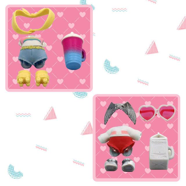 LOL Brinquedos Accessorries 1set Surpresa Bonecas Roupas Óculos de Garrafa de Sapatos na Venda de Brinquedos para Meninas Bonecas da Coleção