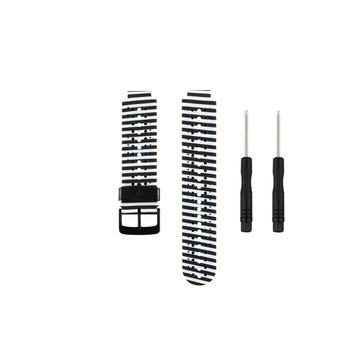 (230HS)Zebra Soft Silicone Replacement Watch Band for Garmin Forerunner 230 / 235/235Lite/ 220 / 620 / 630 / 735 Smart Watch