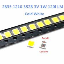 10-100 peças para lg led tv retroiluminação, 2835 3030 3535 3v 3014 4014 6v 1w kit 3w led eletronica para reparação de lcd tv, branco frio