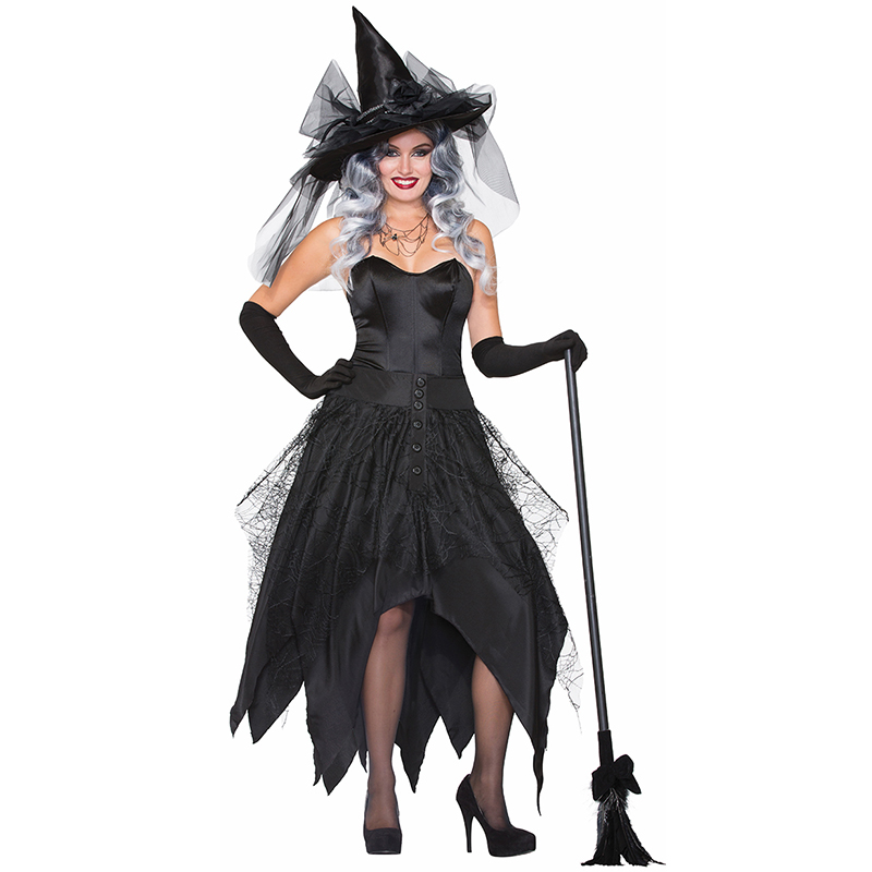 Plus Size Women <font><b>Sexy</b></font> Witch <font><b>Costume</b></font> <font><b>Halloween</b></font> <font><b>Sexy</b></font> Adult Witch Cosplay Woman Carnival Fantasia Fancy Dress Female Funny Outfits image
