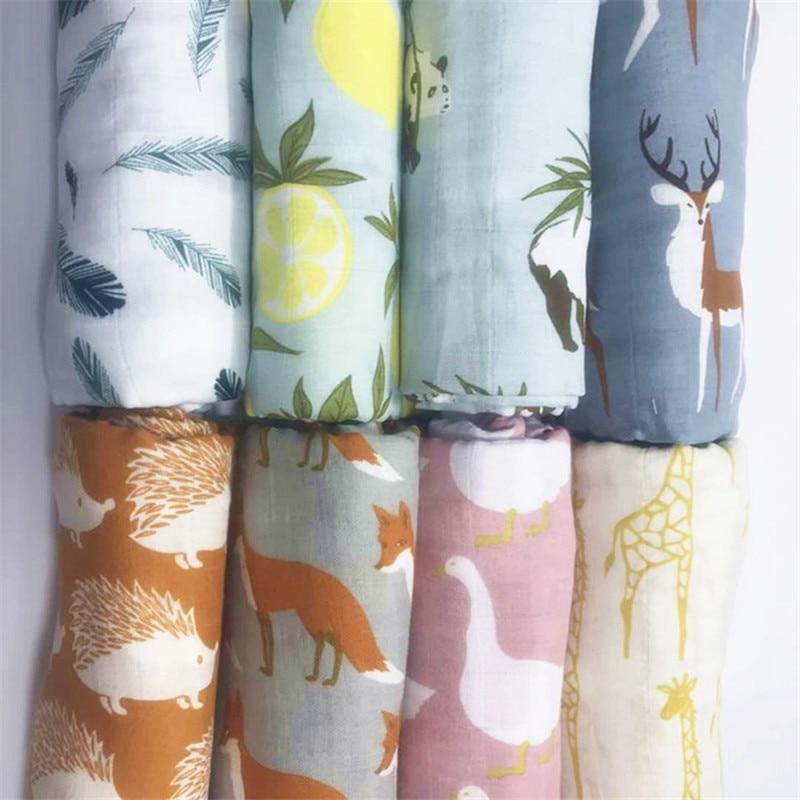 Babykläder Ekologisk bomullsmuslinhattduk, Multifunktionell Muslin Baby nyfödda filt, Babybäddssäng badhandduk