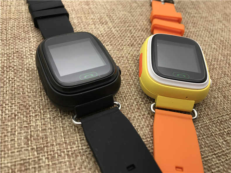 Slimy GPS Kids Smart Watch Baby Clock Hour Toy Q90 WIFI Positioning SOS Call GPS Locator Tracker for Kids Safe Anti Lost Monitor