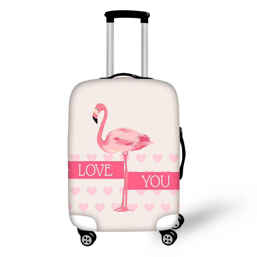e576a7ce5d9b ELVISWORDS прекрасный розовый Фламинго Эластичный Чемодан Крышка  Путешествия защитный чехол тележка чехол Защитные сумочки с принтом