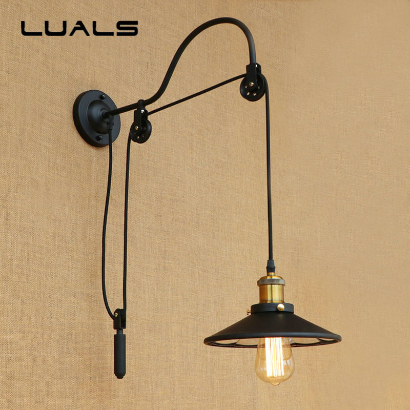 Loft Style Retro Wall Lamp Creative Can be highly adjusted Wall Light Restaurant Bar Industrial Edison Wall Lights Lighting silver plating wall lamp loft retro edison indoor wall light for cafe bar metal industrial wall lights art deco lighting