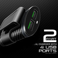 4 5 samsung C501 5.1A 4 USB Ports Universal Mobile Phone Car Charger  for iPhone Samsung (5)