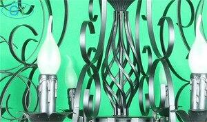 Image 4 - 현대 크리스탈 샹들리에 10 라이트 블랙 크리스탈 빗방울 장식 대형 샹들리에 거실 홈 조명 실내 램프