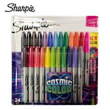 24Pcs/set Sharpie Oil Marker Pens Colored Markers Art Pen Permanent Colour Marker Pen Office Stationery 1mm Nib