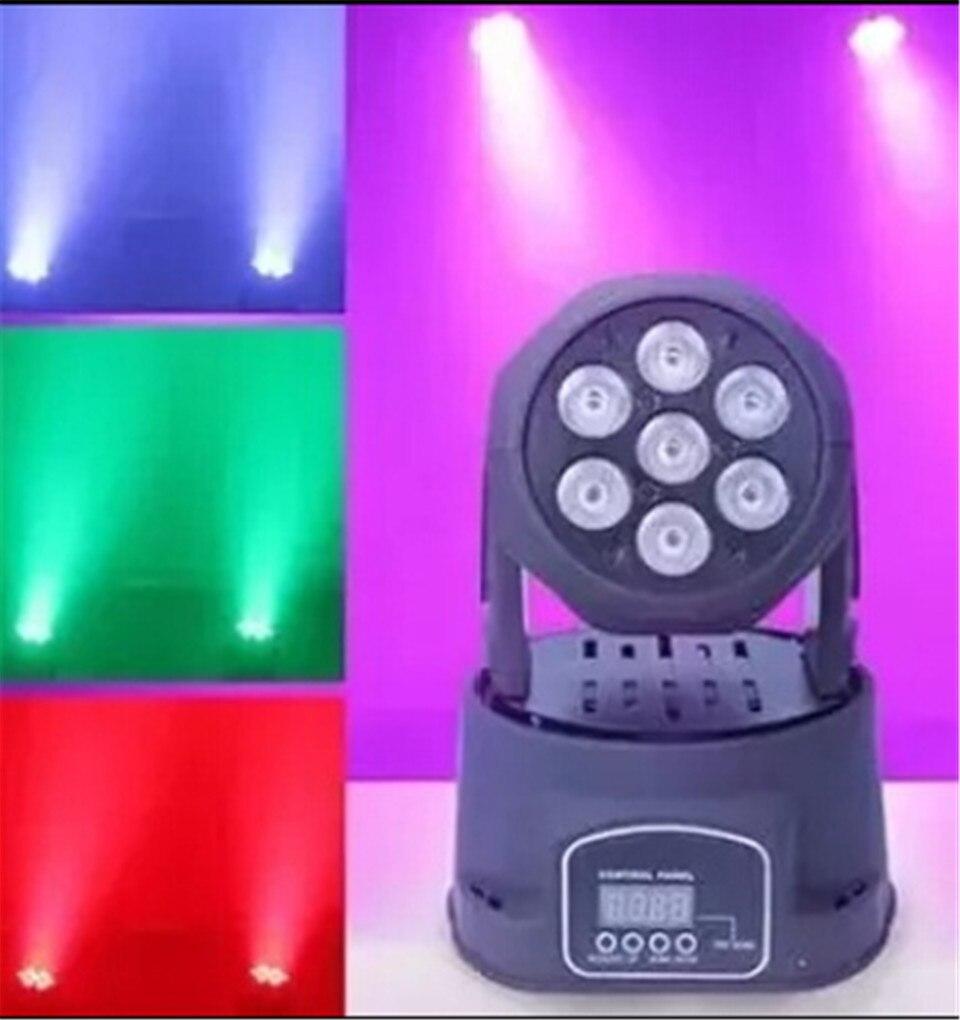 <font><b>LED</b></font> Wash Moving головной свет <font><b>7&#215;12</b></font> W RGBW 4IN1 <font><b>LED</b></font> luci DMX 9/14 Canali DJ фасции avanzata