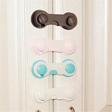 цена на 1pc Multifunction Drawer Door Cabinet Cupboard Toilet Safety Locks Baby Kids Safety Care Plastic Locks Straps Infant Protection