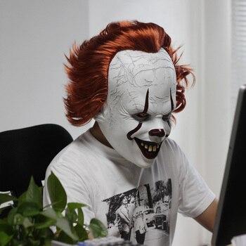 Stephen King IT Clown Joker Pennywise Latex Mask – Halloween Horror Cosplay Costume