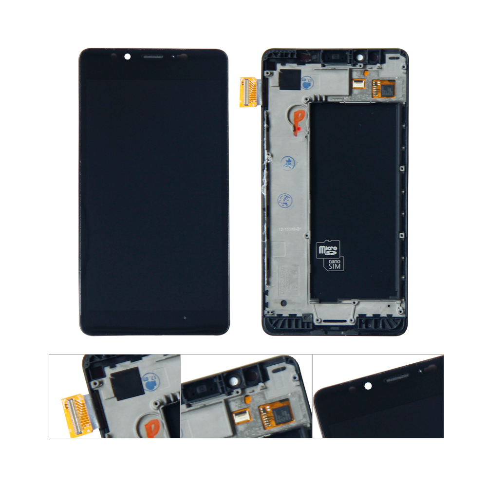 For Nokia <font><b>Lumia</b></font> <font><b>950</b></font> LCD Display Digitizer Touch Screen Sensor Assembly Replacement <font><b>Parts</b></font> With Frame Free Tools image