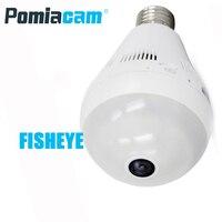Güvenlik ve Koruma'ten Gözetim Kameraları'de I6 kablosuz ip kamera WiFi Panoramik Balıkgözü Gözetim Kamera 960 P 360 Derece Görüş lamba ışığı