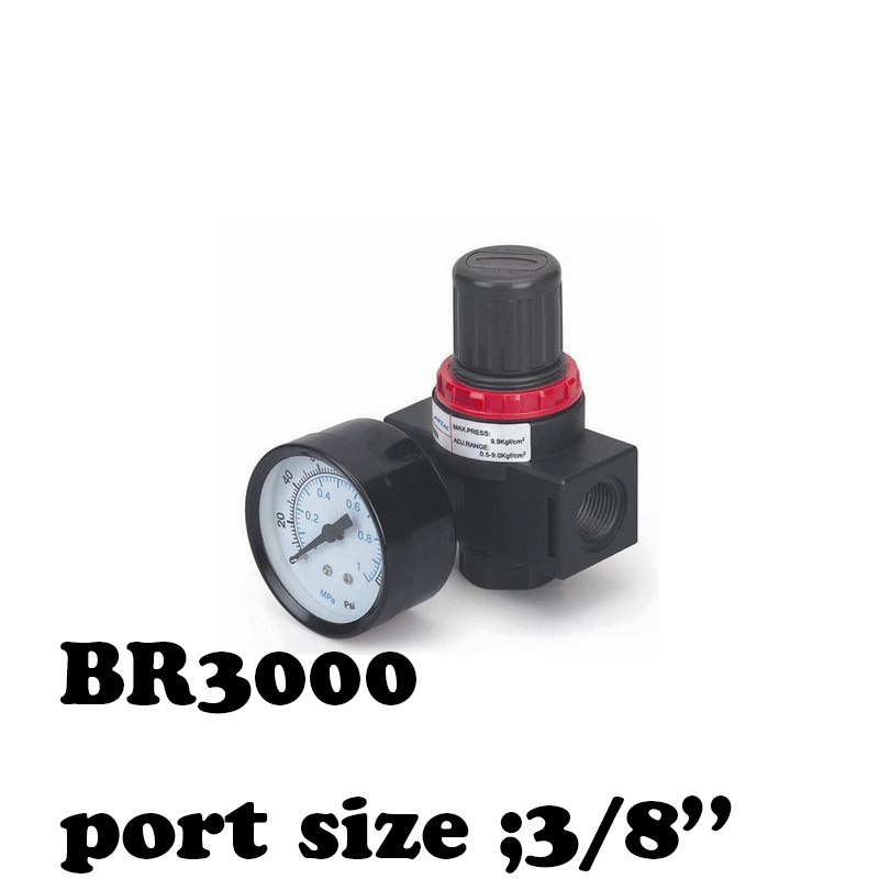 BR3000 Air processor Free Shipping Pressure Regulator 3/8 BSPT with Gauge and Bracket 1000L/min portable lcd digital manometer pressure gauge ht 1895 psi air pressure meter protective bag manometro pressure meter