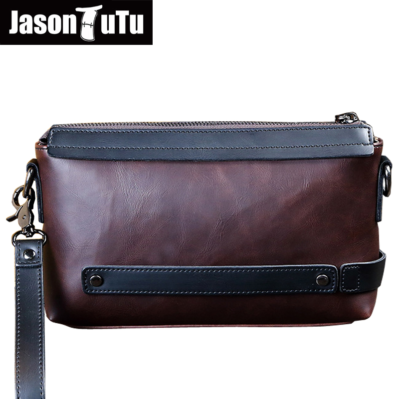 JASON TUTU Men Clutch bag crossbody bags for men messenger bags single shoulder bag Good quality Crazy Horse PU leather B592JASON TUTU Men Clutch bag crossbody bags for men messenger bags single shoulder bag Good quality Crazy Horse PU leather B592