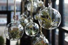 O.RoseLif Brand 12PCS/Lot Hanging Tealight Holder Glass ORB Terrarium  Glass Globe Candle Holder  Candlestick Wedding  Bar Decor