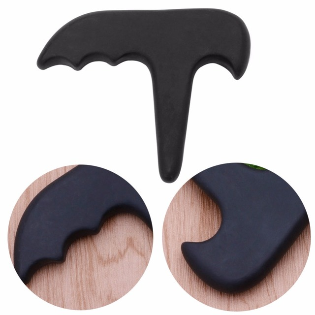 Gua Sha Black Natural Bian Stone for Gua Sha