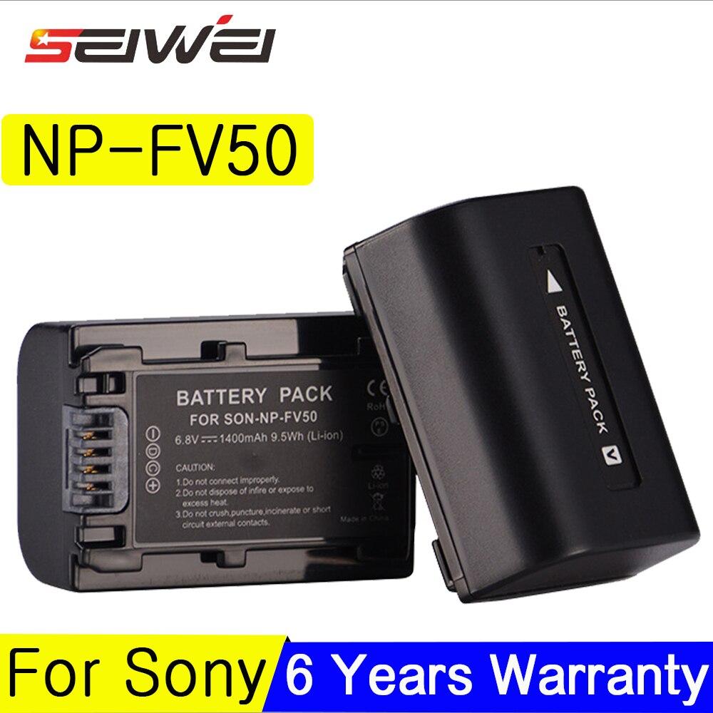 Pour Sony NP-FV50 LCD USB Chargeur + 1400 mah NP FV50 Caméra Batterie pour Pour NP-FV30 FV50 FV70 FV90 FV100 FV120 HDR-SR68 DCR-SX85