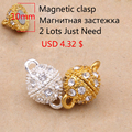 (Min Order 5$)10mm,12mm,14mm Hot Selling Magnetic Clasps for Jewelry findings and jewelry making 5pcs/lot