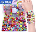 24 lattice Over 650 PCs  DIY Beads for Children toys / Bracelet necklace Acrylic loom bands Bead with box set  for Girl gift
