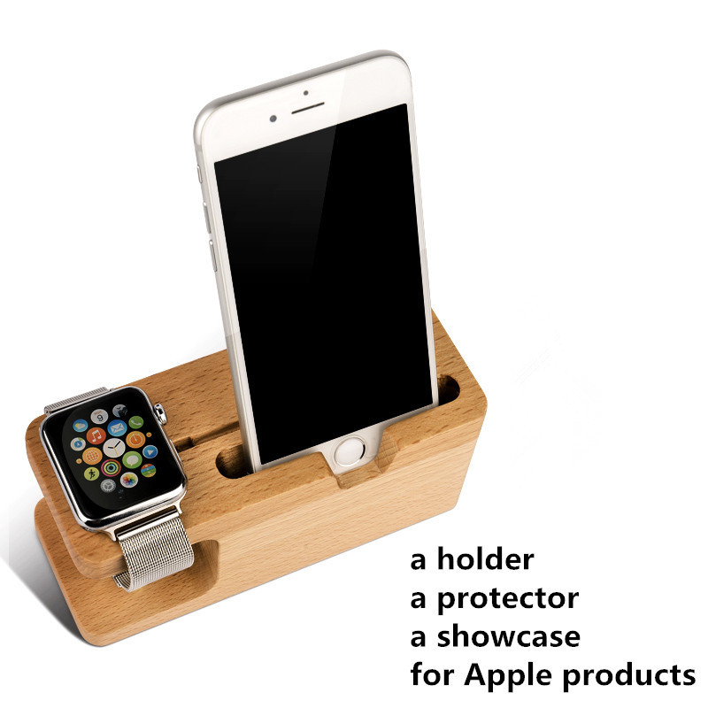 iMeaning Portable Universal Wooden Phone Holder Stand