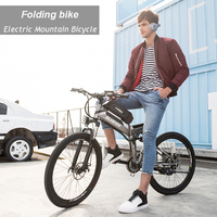 48V 26 Inch Mountain Electric Bicycle 24 Speed Folding Electric Lithium Battery Disc Brake Suspension Electric