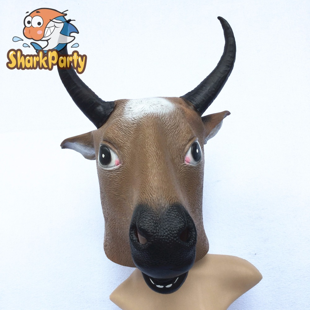 SharkParty Natural Rubber African Buffalo Head Party Halloween ...