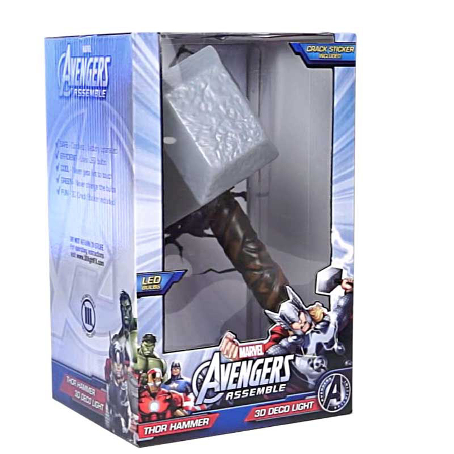 Creative avengers alliance thor hammer 3d led wall lamps for bedroom creative avengers alliance thor hammer 3d led wall lamps for bedroom decorative night lights kid gifts in wall lamps from lights lighting on aloadofball Images