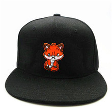 d5b0e31bbad LDSLYJR small Fox embroidery cotton Baseball Cap hip-hop cap Adjustable  Snapback Hats for men