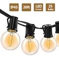 G40 светодиодный светильник s 26Ft 25 шт. винтажный светодиодный светильник 1 Вт 2700 к IP45 водонепроницаемый внутренний наружный светильник для дв...
