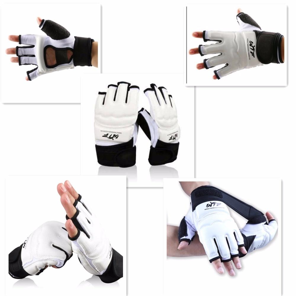Тхэквондо Перчатки WTF утвердить Искусственная кожа для взрослых и детей ММА Бокс перчатки каратэ боевых искусств кунг-фу протектор Wing chun ру...
