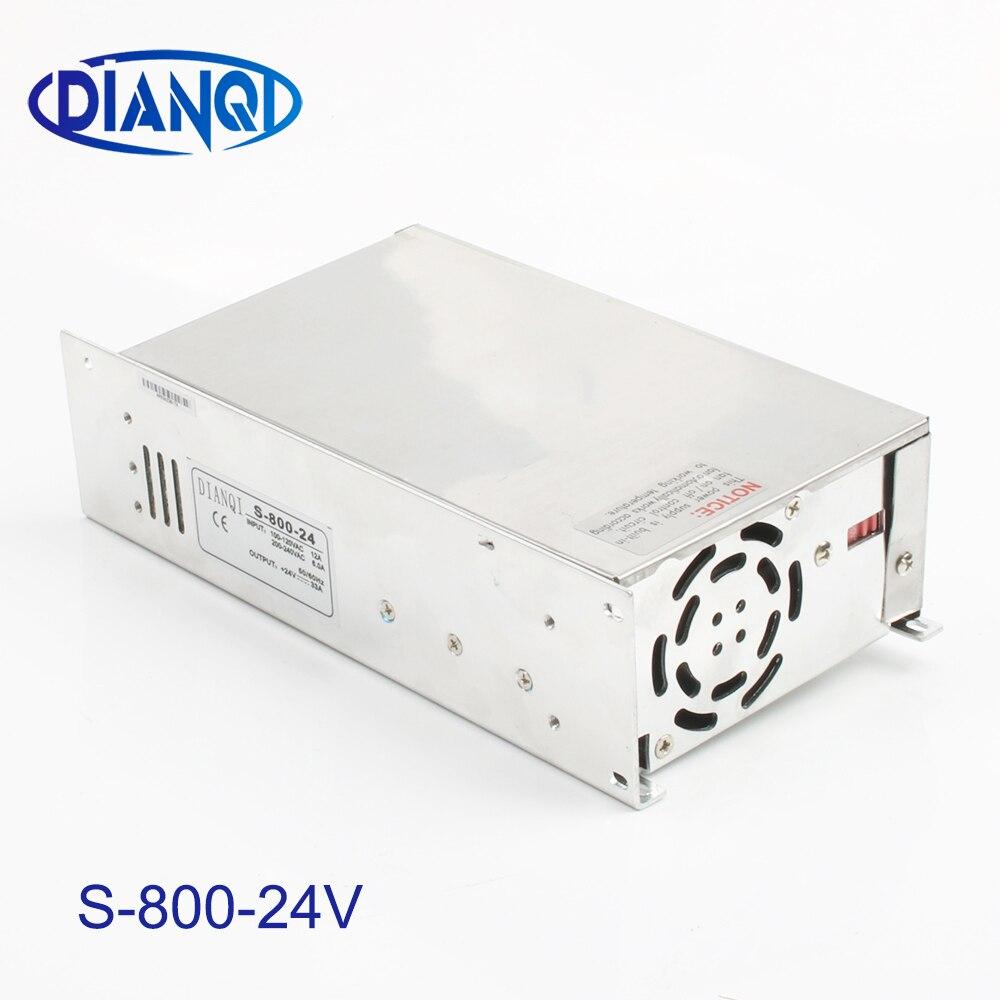 DIANQI alimentation à découpage 800 w 24 v 33A entrée AC110 ou 220 V pour lampes à bande alimentation transformateur de tension