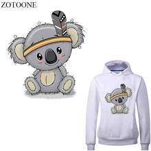 ZOTOONE Cartoon Bear Patches Heat Transfer Vinyl for Kids Clothes DIY Animal Patch Stickers T-shirt Decoration Thermal Press E